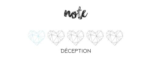 Note déception